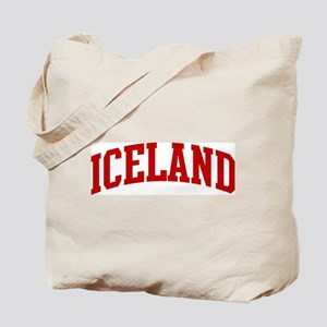 ICELAND (red) Tote Bag