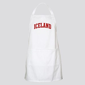 ICELAND (red) BBQ Apron