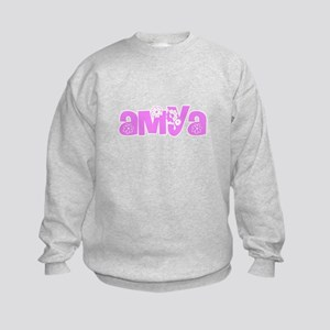 Amya Flower Design Sweatshirt
