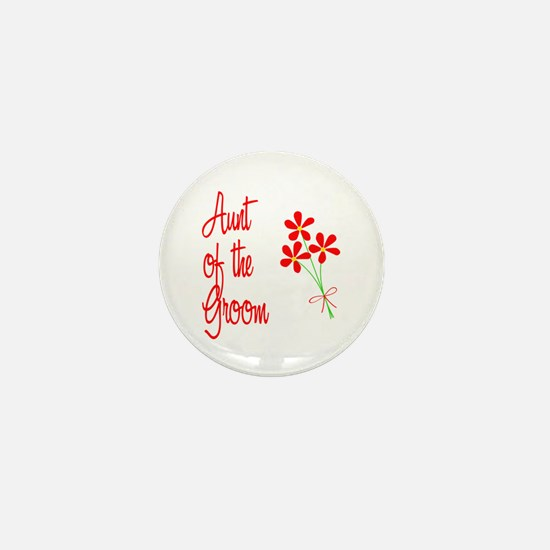 Bouquet Groom's Aunt Mini Button