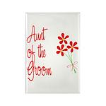 Bouquet Groom's Aunt Rectangle Magnet (10 pack)