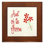 Bouquet Groom's Aunt Framed Tile