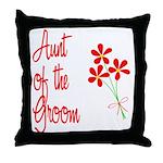 Bouquet Groom's Aunt Throw Pillow