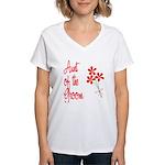 Bouquet Groom's Aunt Women's V-Neck T-Shirt