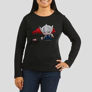 Thor Stylized Women's Long Sleeve Dark T-Shirt