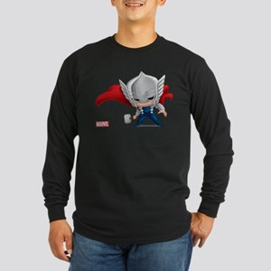 Thor Stylized Long Sleeve Dark T-Shirt