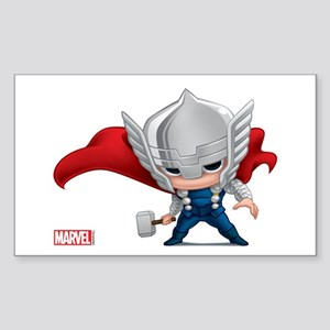 Thor Stylized Sticker (Rectangle)