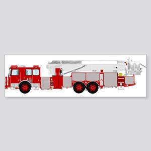 Red fire truck drawing 1 Bumper Sticker