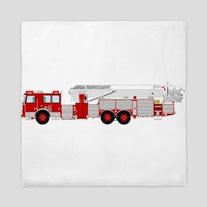 Red fire truck drawing 1 Queen Duvet