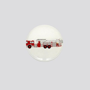 Red fire truck drawing 1 Mini Button