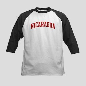 NICARAGUA (red) Kids Baseball Jersey
