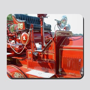 Red fire truck seat shot 3 Mousepad