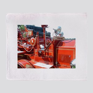 Red fire truck seat shot 3 Throw Blanket