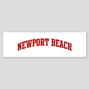 NEWPORT BEACH (red) Bumper Sticker