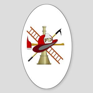 Generic fire service emblem 1 Sticker (Oval)