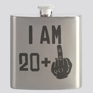 Middle Finger 21st Birthday Flask