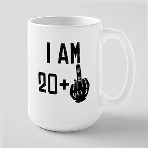 Middle Finger 21st Birthday Mugs