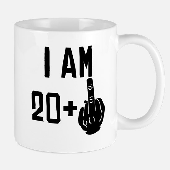 Middle Finger 21st Birthday Mugs