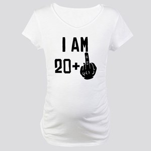 Middle Finger 21st Birthday Maternity T-Shirt