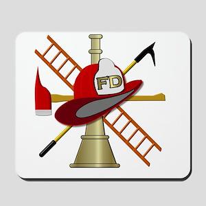 Generic fire service emblem 1 Mousepad
