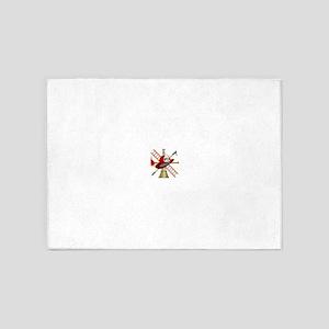 Generic fire service emblem 1 5'x7'Area Rug