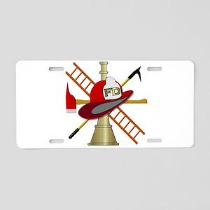 Generic fire service emblem Aluminum License Plate