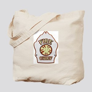 Fire chief helmet shield white Tote Bag