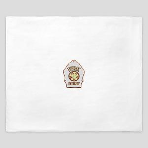 Fire chief helmet shield white King Duvet