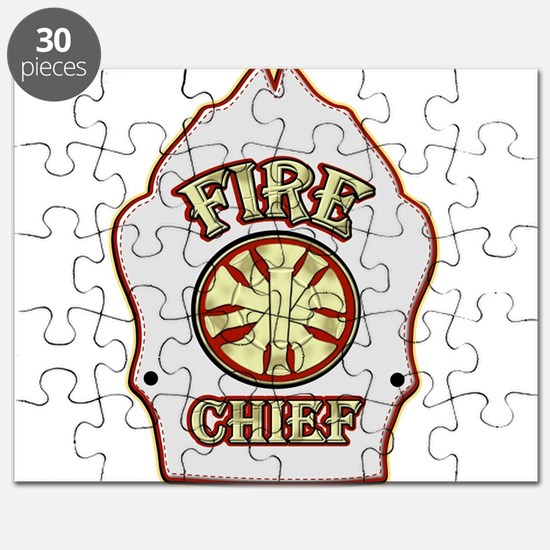 Fire chief helmet shield white Puzzle