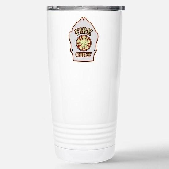 Fire chief helmet shiel Stainless Steel Travel Mug