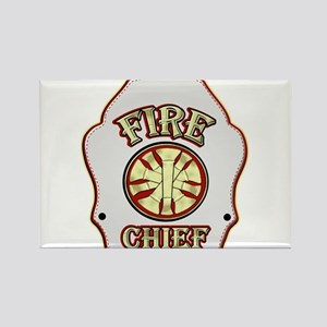 Fire chief helmet shield white Magnets