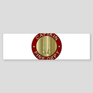 Fire captain emblem bugles Bumper Sticker