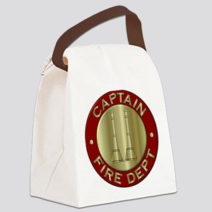 Fire captain emblem bugles Canvas Lunch Bag
