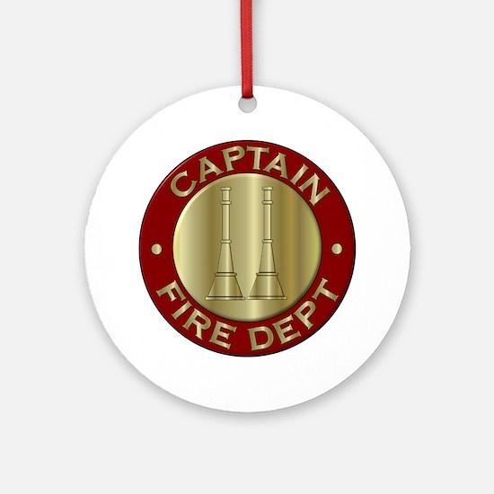 Fire captain emblem bugles Ornament (Round)
