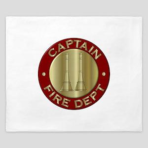 Fire captain emblem bugles King Duvet