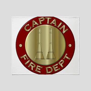 Fire captain emblem bugles Throw Blanket