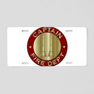 Fire captain emblem bugles Aluminum License Plate