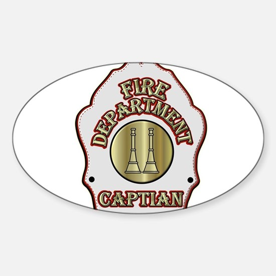 Fire Captain helmet shield white Decal