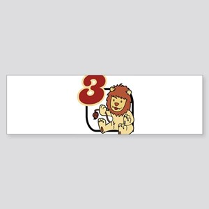 Birthday-Age: 3 (Lion) Bumper Sticker
