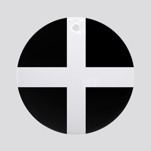 The Flag Of Cornwall Ornament (Round)