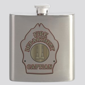 Fire Captain helmet shield white Flask