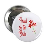 Bouquet Bride's Friend Button