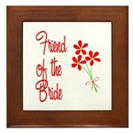 Bouquet Bride's Friend Framed Tile