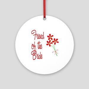 Bouquet Bride's Friend Ornament (Round)