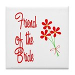 Bouquet Bride's Friend Tile Coaster