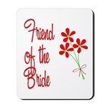 Bouquet Bride's Friend Mousepad