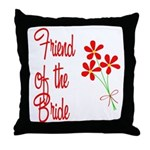 Bouquet Bride's Friend Throw Pillow