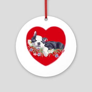Boston Terrier Puppy Love Keepsake (Round)