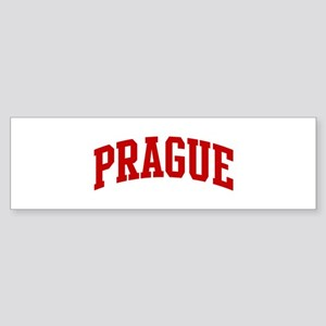 PRAGUE (red) Bumper Sticker