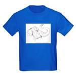Tricia the Indian Elephant Kids Dark T-Shirt